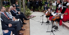 Juanpablo Casas and Marco Pacheco perform for Prince Felipe and Princess Letizia of Spain.