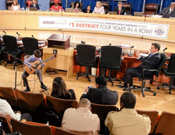 9 year old Jeremy Perez opens up April 2015 School Board  meeting
